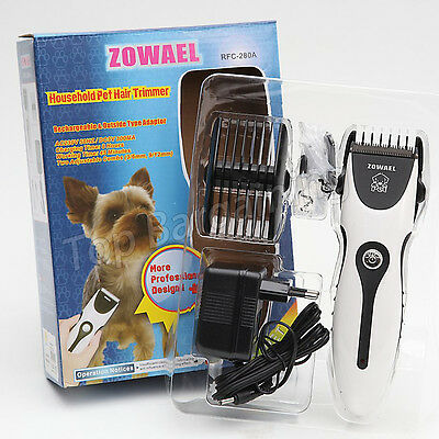 Pet Cat Dog Hair Grooming Trimmer Electric Shaver Clipper Razor Kit Rechargeable