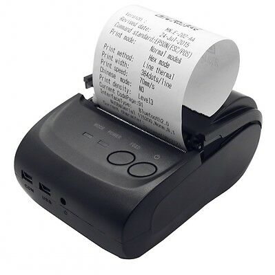 Bluetooth Wireless Pocket Thermal Receipt Printer 58mm for Android + Windows