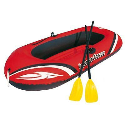 New Inflatable Hydro Force Red Raft Boat With  Oars & Tow Rope