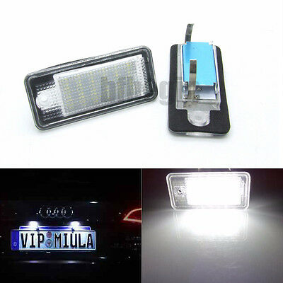 Libre errores 18LED Luz matrícula Light For Audi A3 A4 A6 A8 B6 B7 S4 Q7 RS4 RS6