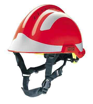 MSA F2 X-Trem red Helmet And full pack of Silver reflective Stickers