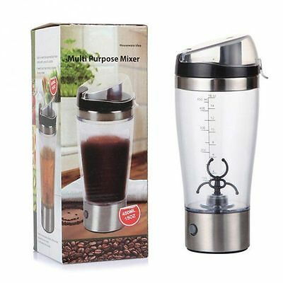 New Portable Electric Protein Shaker Drink Juice Cocktail Mixer Bottle Cup 450ml