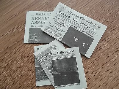 Dolls House Miniatures 1/12th Scale Accessory Event Newspapers New (D2054) *
