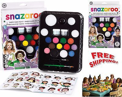 Snazaroo Face Painting Paint Kit Set Makeup Palette Ultimate Party Kids Fancy