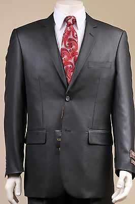 New Mens 2 Button Black SUIT Italian Design Italy