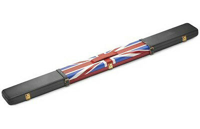 Peradon Union Jack Pattern 3/4 Jointed Cue Leather Case **s2696.gb**##