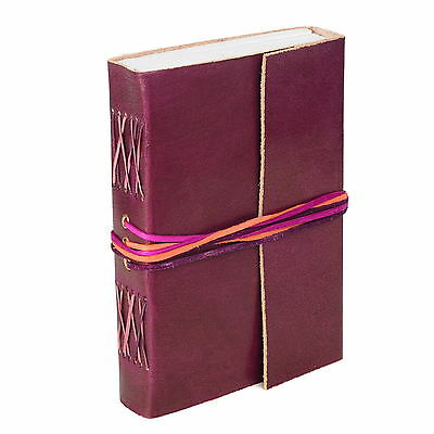 Fair Trade Handmade Leather 3-string Plum Leather Journal - 2nd Quality