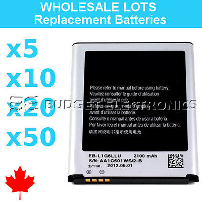 Wholesale Replacement Battery for Samsung Galaxy S3 i9300 2100mAh Bulk Lots