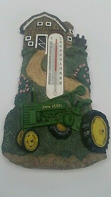 Thermometer John Deere green Size 16.14 x 2.64 inch Temperatures Celsius