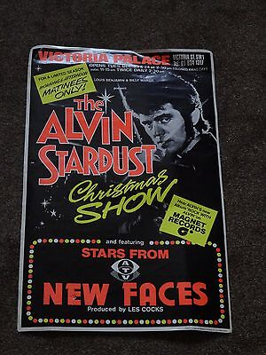 """Alvin Stardust """"Christmas Show"""" 1975 Victoria Palace Poster"""