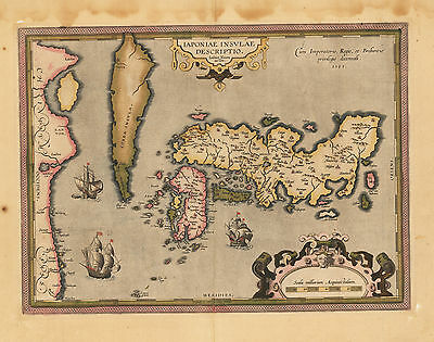 HJB-AntiqueMaps : 1602 Map of Japan by Ortelius