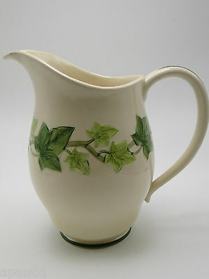 Franciscan California Art Pottery Ivy 48oz green trim Pitcher