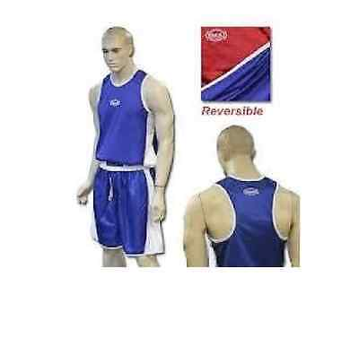 Amateur Boxing SINGLET SHORTS SET RED BLUE reversible SMAI ANBF NSW STATE SMALL
