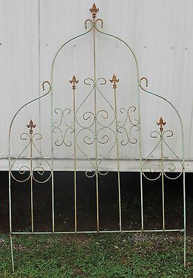 Huge Salvaged Green Wrought Iron Domed Trellis