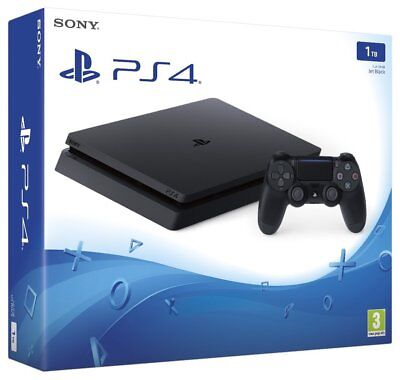 Black Playstation 4 Ps4 1Tb Slim Console - New & Sealed