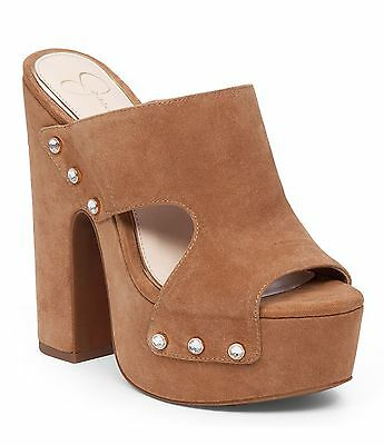 Women Jessica Simpson Beccy Wedge Sandals Sizes 5.5-10 Black JS-BECCY Lux Suede