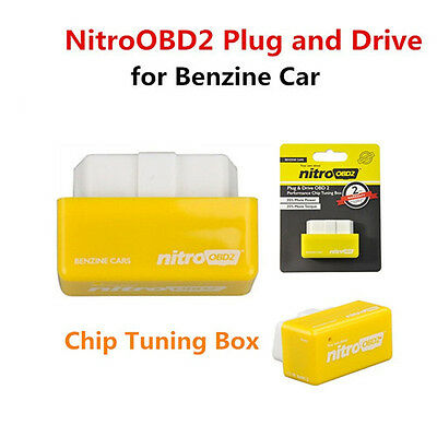 Free Shipping NitroOBD2 Plug Drive More Power Torque Chip Tuning Box Benzin Cars