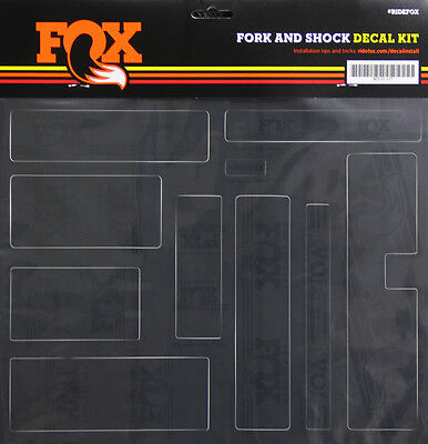 Fox Heritage Decal Kit for Forks and Shocks, Stealth Black