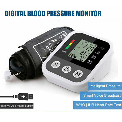 Digital Blood Pressure Monitor Automatic Upper Arm Type Large Cuff large Display