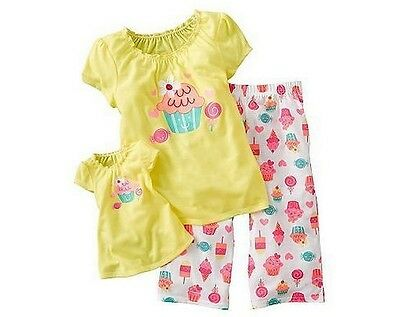 Girl 6X and Doll Matching Cupcake Pajama Outfit fit American Girls & Dollie& Me