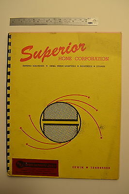 #J32 SUPERIOR HONE CORPORATION Honing Machines, Mandrels Stones Catalog