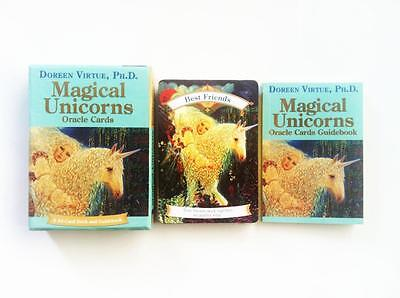 Magical Unicorns Oracle Cards By Doreen Virtue 44 Card Deck And Guidebook