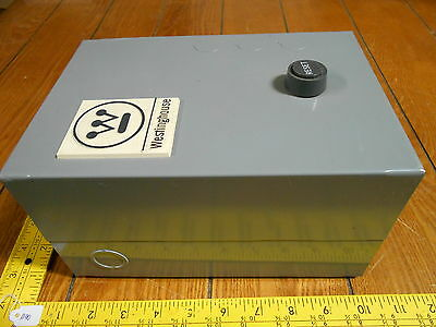 Westinghouse A200M1CX 276A143G09 Starter w/ Enclosure, Size 1, 27A , 3Phase, New
