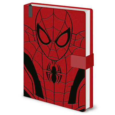Marvel Spiderman Web Red Premium Journal Notebook A5 - Official Licensed **New**