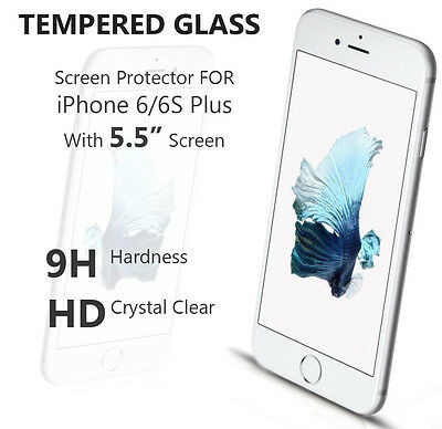 Lot New 9H+ Premium Real Tempered Glass Screen Protector Apple iPhone 6s Plus