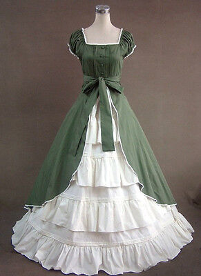 Newes Lady Victorian Dress Civil War Period Formal Cosplay Party Costume Dresses