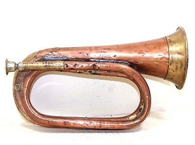 1900s Antique Beautiful Handmade CopperSplash with BrassFitted Marching Trumpet