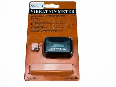 AU Black Vibration Hour Meter for Trailers Motor Machinery Mower waterproof