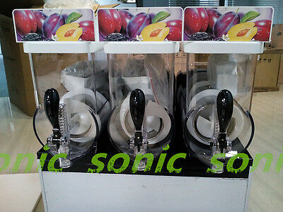 New Commercial 3 Tank Frozen Drink Slush Slushy Making Machine Smoothie Maker S