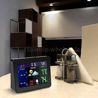 Multi-functional Digital LCD Wireless Indoor Outdoor Weather Station Clock V0E3