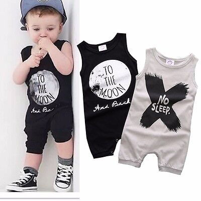 Summer Newborn Kids Baby Boy Girl Infant Romper Jumpsuit Bodysuit Clothes Outfit