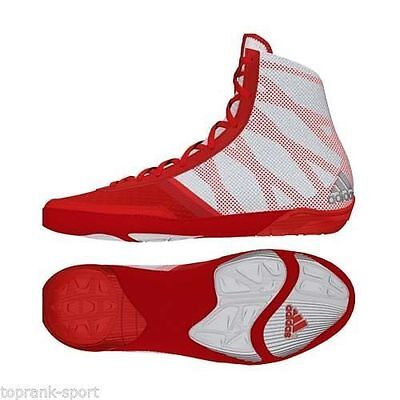 Adidas Wrestling Pretereo 3 Red Boots Shoes Adults - AQ3293