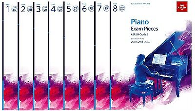 ABRSM Piano Exam Music 2017-2018 Selected Pieces with CD - Options Grades 1-8