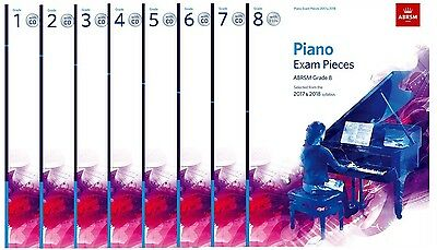 ABRSM Piano Exam Music 2017-2018 with CD - Options Grade 1,2,3,4,5,6,7,8