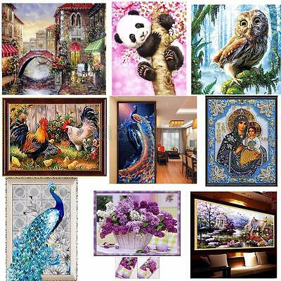 DIY 5D Diamond Painting Animals Flower Embroidery Cross Stitch  Craft Home Decor