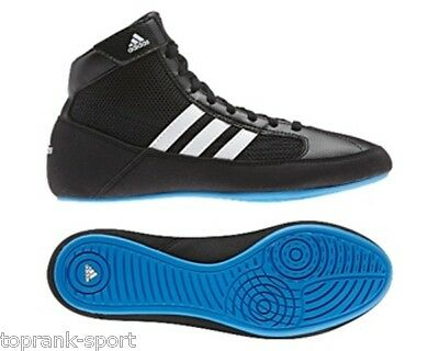 Adidas Wrestling Kids Havoc Lace Black/Blue Shoes Boots - Unisex