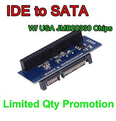 New IDE TO SATA Converter Adapter For 3.5 DVD HDD Windows XP 7 8 32/64 Systems