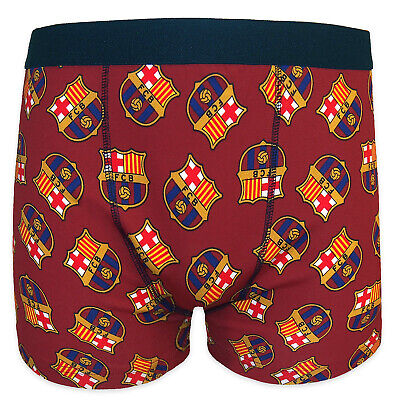 FC Barcelona Official Soccer Gift 1 Pack Mens Crest Boxer Shorts