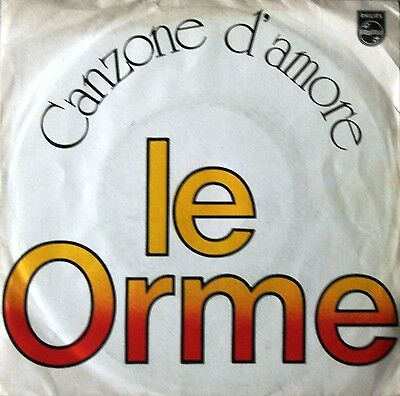 """# Le Orme CANZONE D'AMORE ITALY '76 (EX--) 7""""-I01061"""