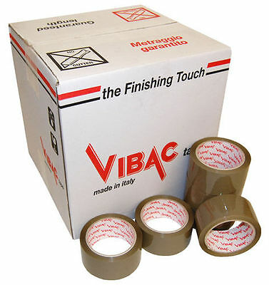 Vibac 831 Brown Solvent Buff Packing Packaging Tape, 48Mm X 66M, Choose Quantity