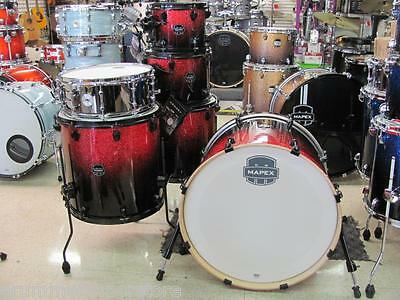 """Mapex Armory Drum Set Kit 22"""" Studioease 6pc Magma Red Birch Maple Shell Pack"""