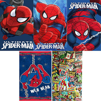 Marvel Comic Spiderman Beach Bath Towel 100% Cotton  70cm x 140cm
