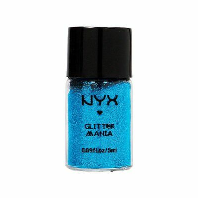 NEW NYX Cosmetics Glitter Mania GP01 Blue 5ml, Hair and Body Glitter + Free P&P