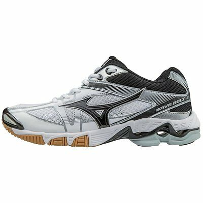 Mizuno Men's Wave Bolt 6 Volleyball Shoes - White & Black - 430223