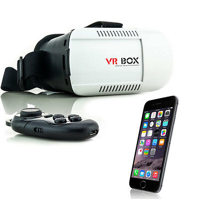 3D Brille VR Virtual Reality für iPhone 4 5 6 S Plus + Controller Fernbedienung