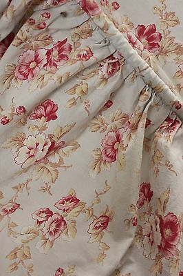 Vintage French faded floral fabric morning glory material shabby and chic !